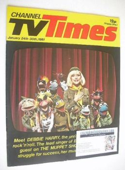 CTV Times magazine - 24-30 January 1981 - Debbie Harry and The Muppets cover