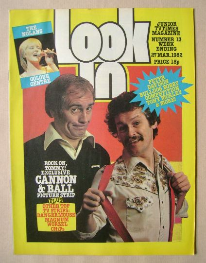 <!--1982-03-27-->Look In magazine - Cannon & Ball cover (27 March 1982)