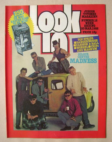 <!--1982-03-20-->Look In magazine - Madness cover (20 March 1982)
