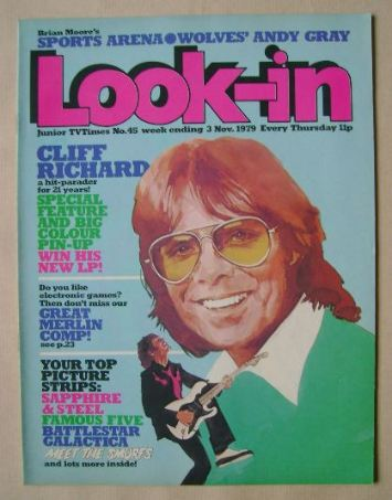 <!--1979-11-03-->Look In magazine - Cliff Richard cover (3 November 1979)