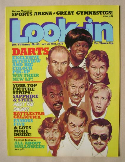 <!--1979-10-27-->Look In magazine - Darts cover (27 October 1979)