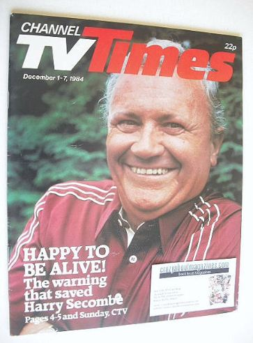<!--1984-12-01-->CTV Times magazine - 1-7 December 1984 - Harry Secombe cov