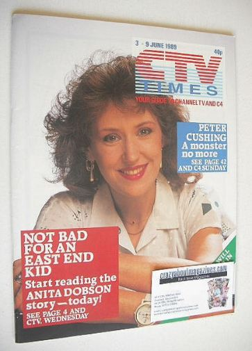 <!--1989-06-03-->CTV Times magazine - 3-9 June 1989 - Anita Dobson cover