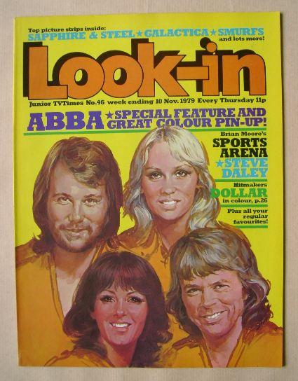 <!--1979-11-10-->Look In magazine - ABBA cover (10 November 1979)
