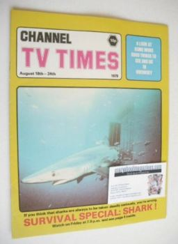 CTV Times magazine - 18-24 August 1979 - Shark cover