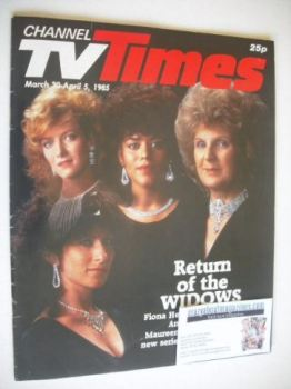 CTV Times magazine - 30 March - 5 April 1985 - Return Of The Widows cover