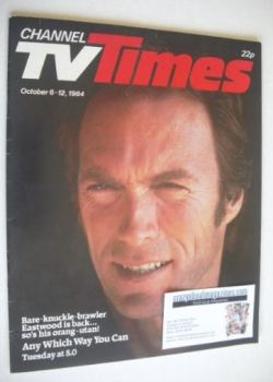 CTV Times magazine - 6-12 October 1984 - Clint Eastwood cover