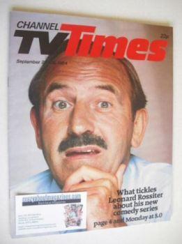 CTV Times magazine - 22-28 September 1984 - Leonard Rossiter cover
