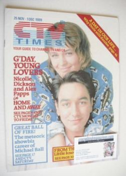 CTV Times magazine - 25 November - 1 December 1989 - Home And Away cover