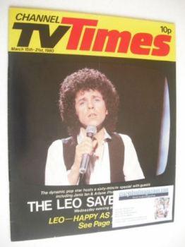 CTV Times magazine - 15-21 March 1980 - Leo Sayer cover