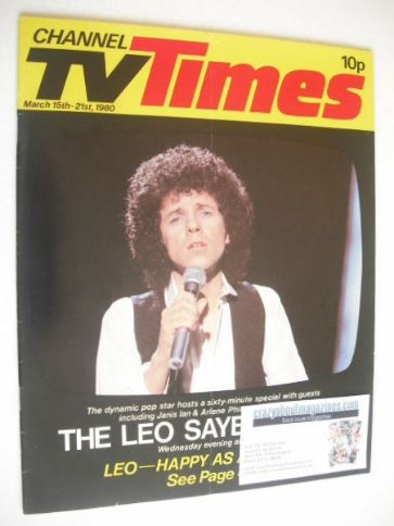 <!--1980-03-15-->CTV Times magazine - 15-21 March 1980 - Leo Sayer cover