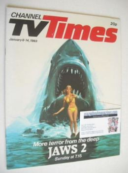 CTV Times magazine - 8-14 January 1983 - Jaws 2 cover
