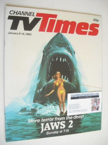 <!--1983-01-08-->CTV Times magazine - 8-14 January 1983 - Jaws 2 cover