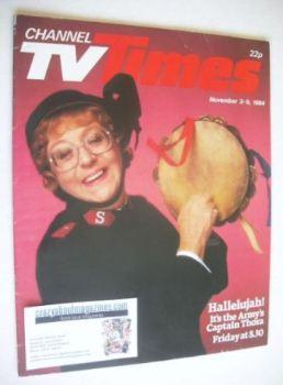 CTV Times magazine - 3-9 November 1984 - Thora Hird cover