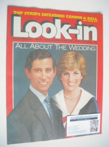 <!--1981-07-25-->Look In magazine - Prince Charles and Princess Diana cover
