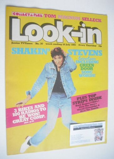 <!--1981-07-18-->Look In magazine - Shakin' Stevens cover (18 July 1981)