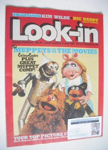 <!--1981-07-11-->Look In magazine - The Muppets cover (11 July 1981)
