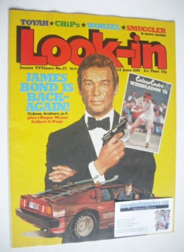 <!--1981-06-27-->Look In magazine - Roger Moore cover (27 June 1981)