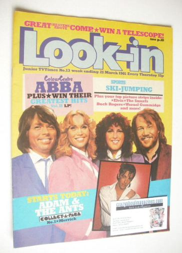<!--1981-03-21-->Look In magazine - Abba cover (21 March 1981)
