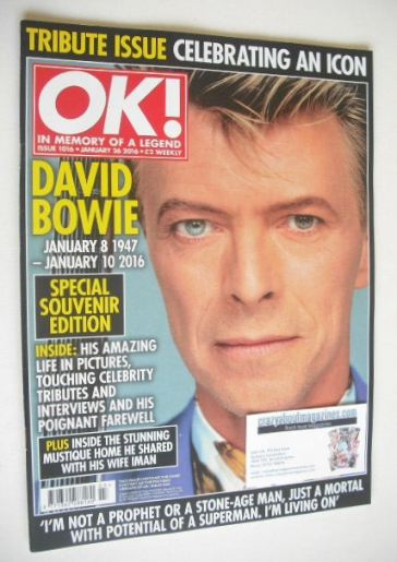 <!--2016-01-26-->OK! magazine - David Bowie cover (26 January 2016 - Issue