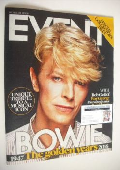 Event magazine - David Bowie cover (17 January 2016)