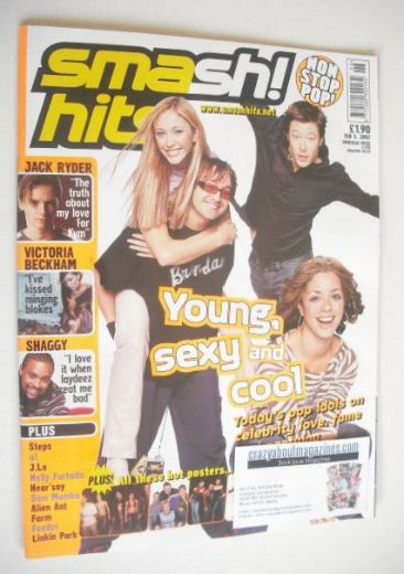 <!--2002-02-05-->Smash Hits magazine - Today's Pop Idols cover (5 February