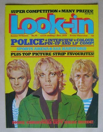 <!--1979-12-01-->Look In magazine - The Police cover (1 December 1979)