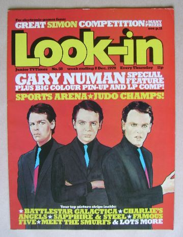 <!--1979-12-08-->Look In magazine - Gary Numan cover (8 December 1979)