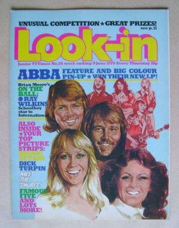 <!--1979-06-16-->Look In magazine - Abba cover (9 June 1979)