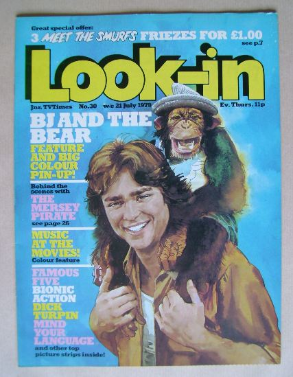 <!--1979-07-21-->Look In magazine - BJ And The Bear cover (21 July 1979)