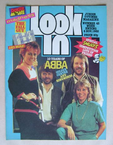 <!--1982-11-06-->Look In magazine - Abba cover (6 November 1982)