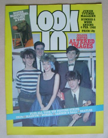 <!--1982-02-06-->Look In magazine - Altered Images cover (6 February 1982)
