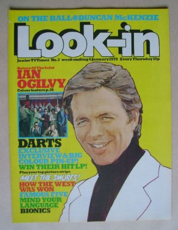 <!--1979-01-06-->Look In magazine - Ian Ogilvy cover (6 January 1979)
