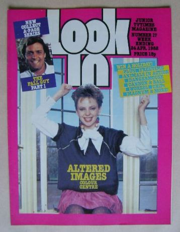 <!--1982-04-24-->Look In magazine - Clare Grogan cover (24 April 1982)