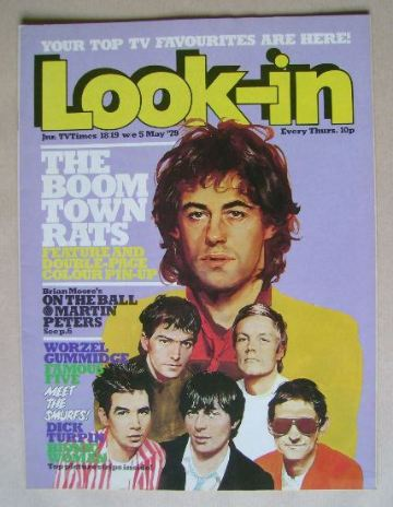 <!--1979-05-05-->Look In magazine - Boomtown Rats cover (5 May 1979)