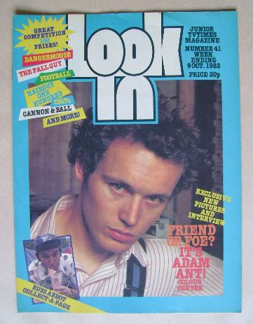 <!--1982-10-09-->Look In magazine - Adam Ant cover (9 October 1982)