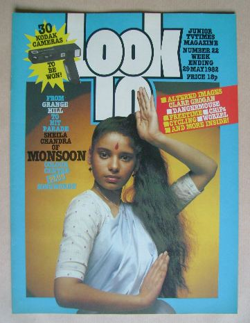 <!--1982-05-29-->Look In magazine - Sheila Chandra cover (29 May 1982)