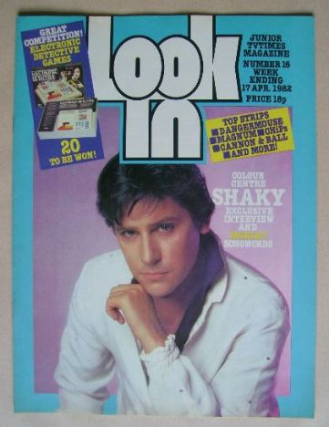 <!--1982-04-17-->Look In magazine - Shakin' Stevens cover (17 April 1982)