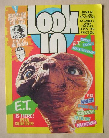 <!--1983-01-08-->Look In magazine - E.T. cover (8 January 1983)