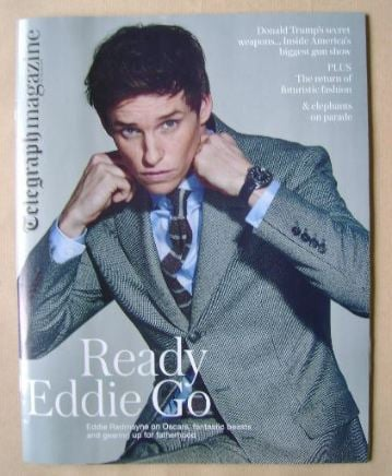 <!--2016-02-20-->Telegraph magazine - Eddie Redmayne cover (20 February 201