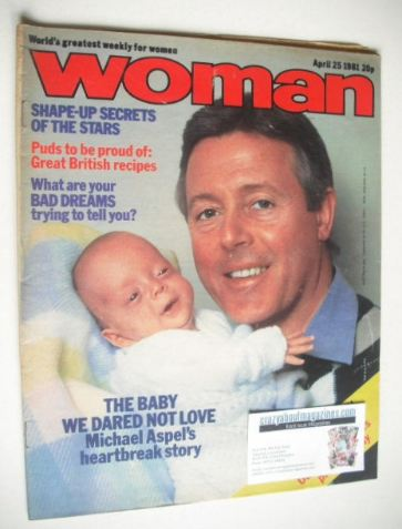 <!--1981-04-25-->Woman magazine - Michael Aspel cover (25 April 1981)