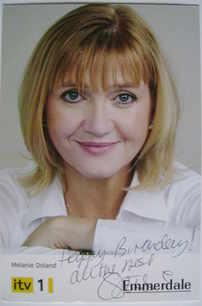 Caroline Strong autograph (ex Emmerdale actor)