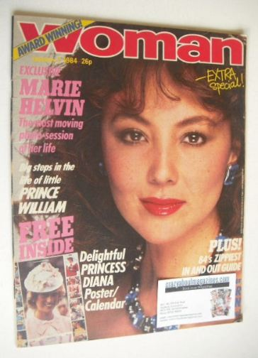 <!--1984-01-07-->Woman magazine - Marie Helvin cover (7 January 1984)