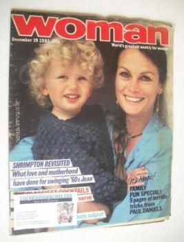 Woman magazine - Jean Shrimpton (19 December 1981)