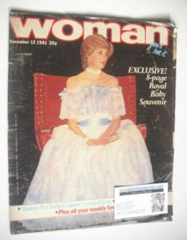 Woman magazine - Princess Diana cover (12 December 1981)