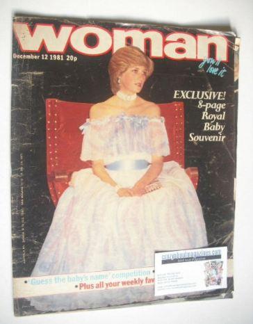 <!--1981-12-12-->Woman magazine - Princess Diana cover (12 December 1981)