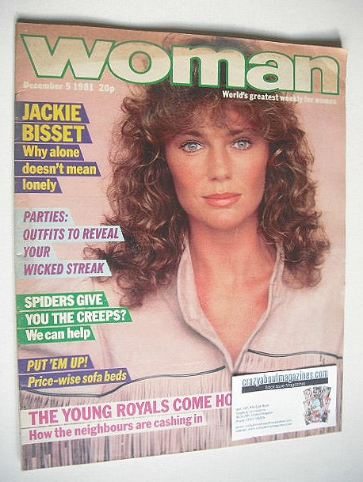 <!--1981-12-05-->Woman magazine - Jacqueline Bisset cover (5 December 1981)