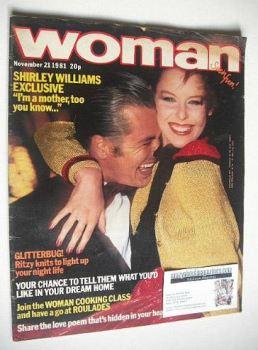 Woman magazine (21 November 1981)
