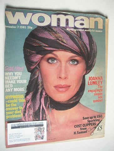 <!--1981-11-07-->Woman magazine - Joanna Lumley cover (7 November 1981)