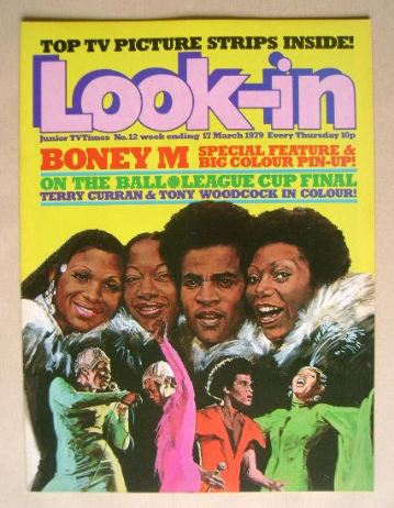 <!--1979-03-17-->Look In magazine - Boney M cover (17 March 1979)